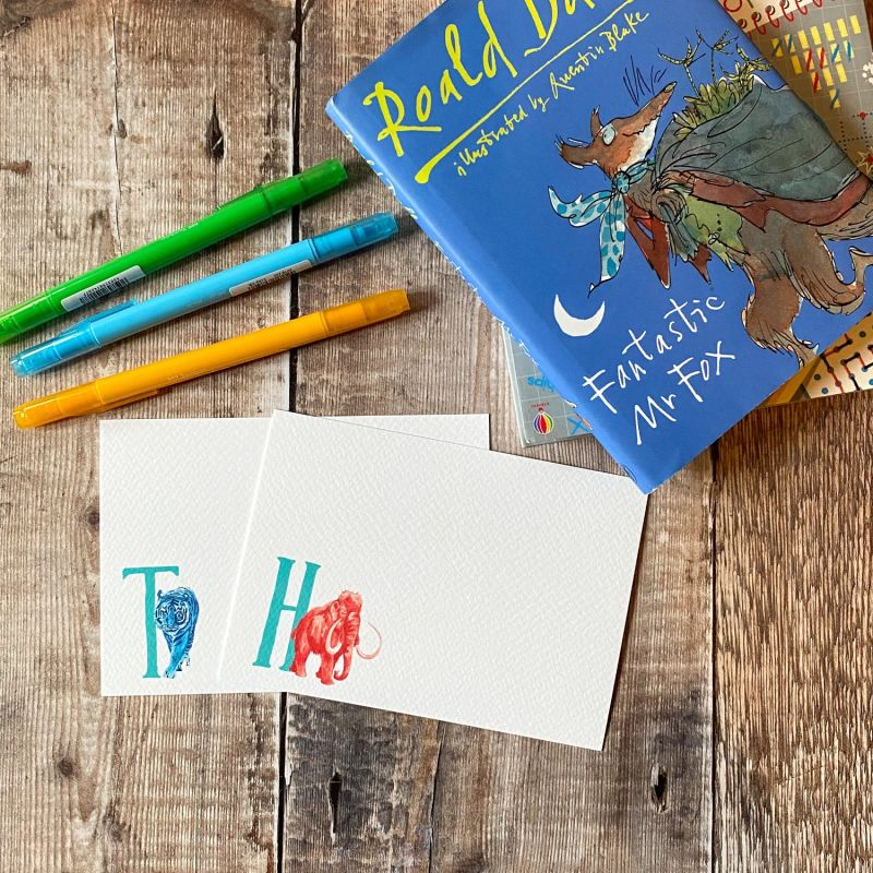 Mammoth Letter Notecards: Pack Of 10 image