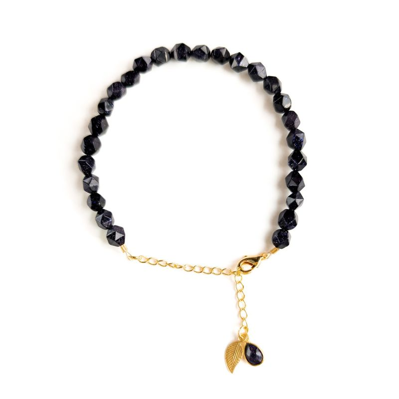Blue Goldstone gold chain bracelet image