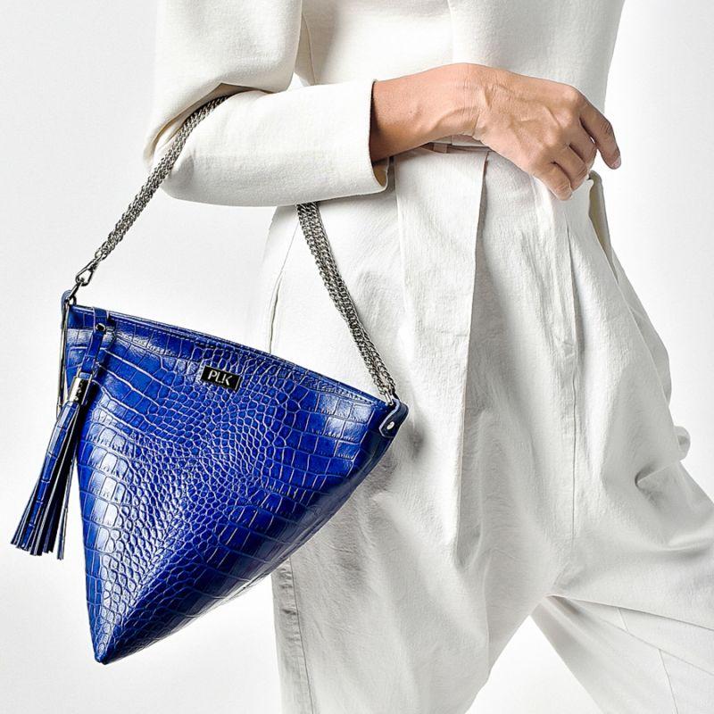 Pyramid Bag Blue Croco image