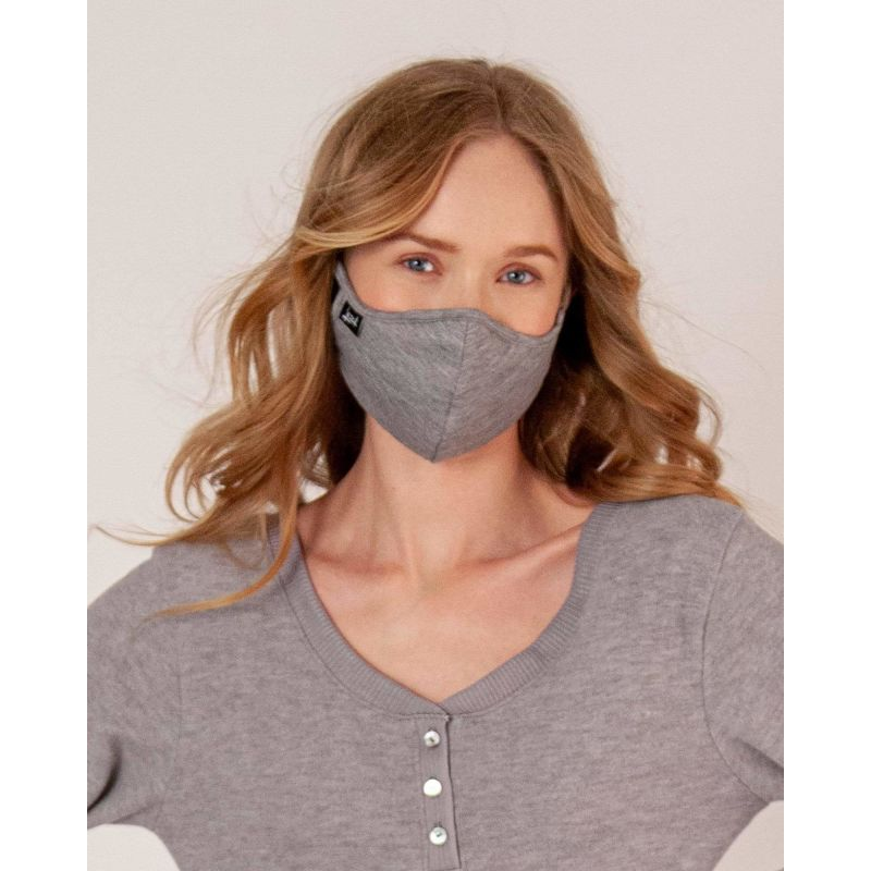 Heather Grey Super Soft Face Mask image