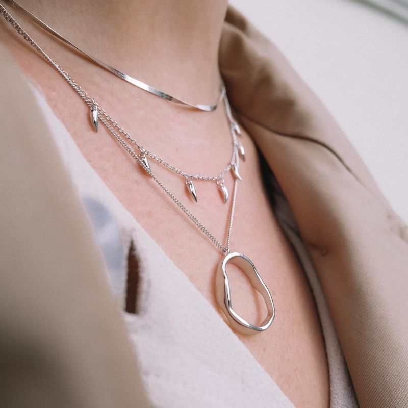 Irregular Necklace In Silver image