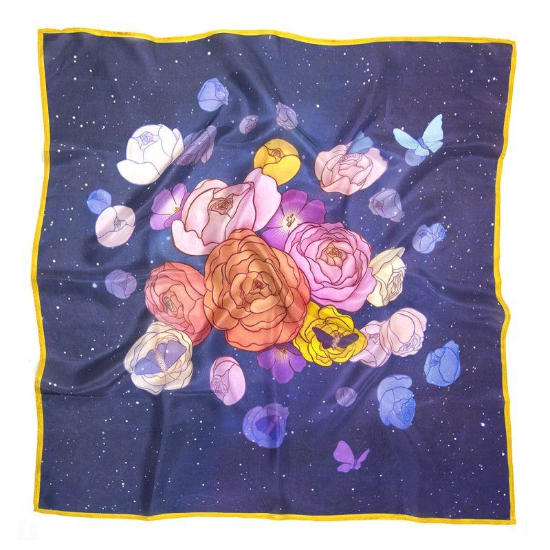 Cosmic Garden Silk Scarf - Square image