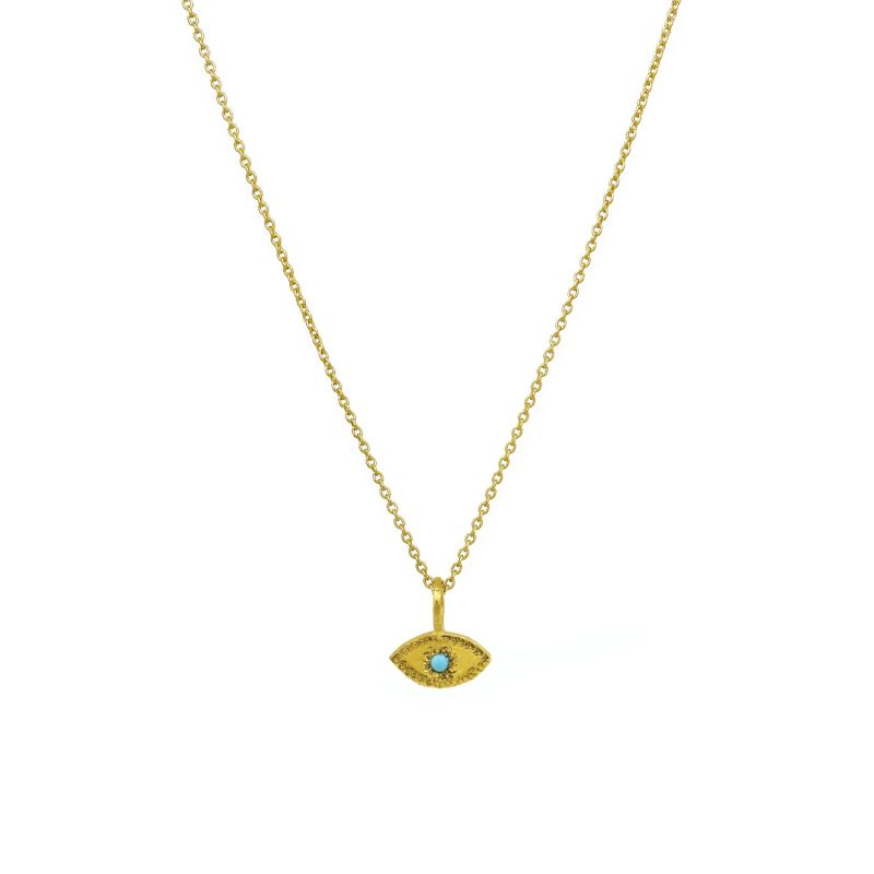 Evil Eye Necklace With Turquoise image