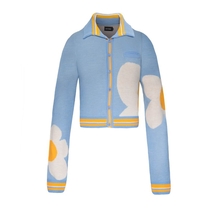 Sky Blue Knitwear Into You Cardigan image