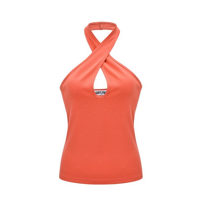 Emma top in orange image