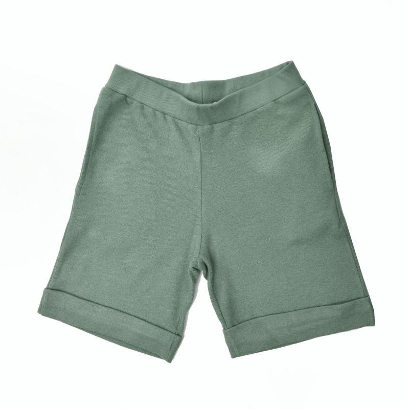 Cotton Cashmere Long Shorts In Pistachio image