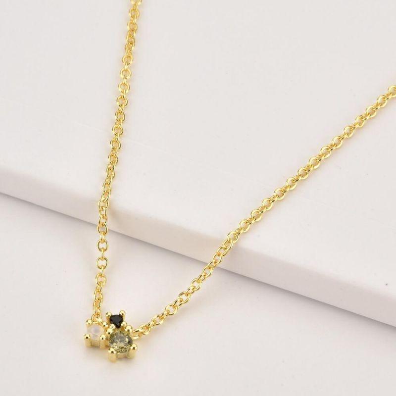 Rainbow Gold Necklace Mystic Trio image