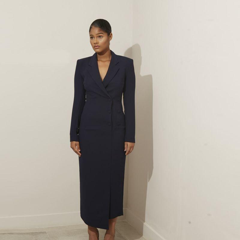 Yan Blazer Dress Navy Blue image