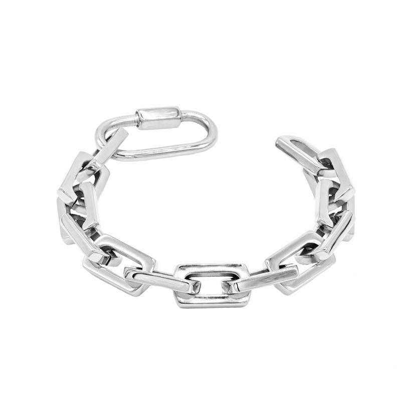 'Two Words, One Finger' Square Link Bracelet image