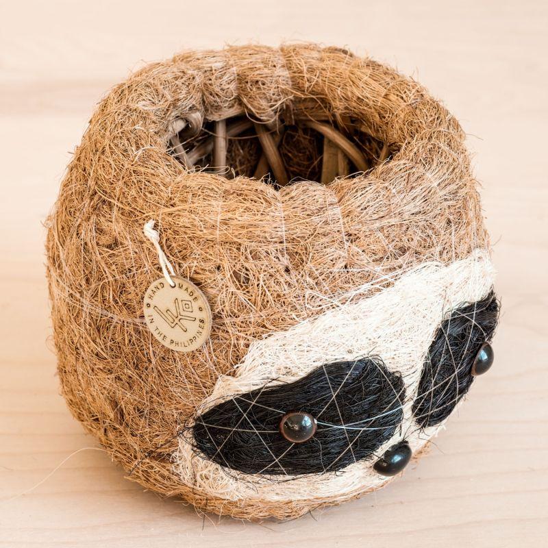 Coco Coir Animal Planter Mini Pot 3-Tone Sloth Dark image