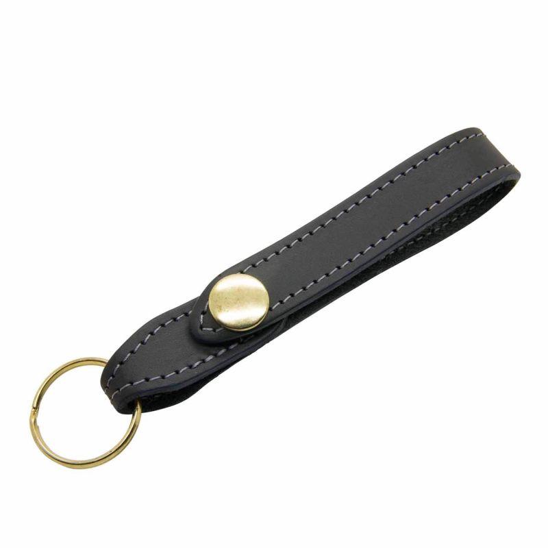 Black Leather Keyring image