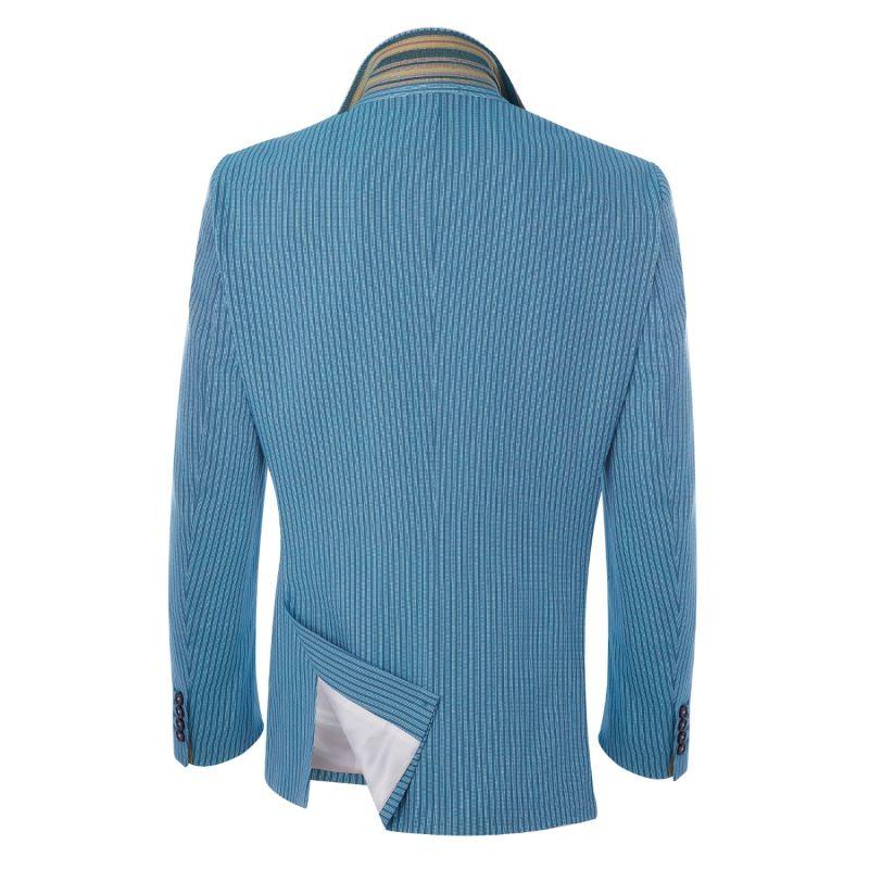 Blue & White Striped Kenyan Kikoy Blazer image