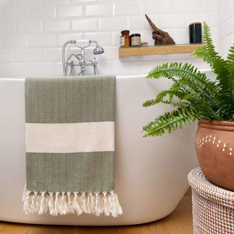 Ferah Organic Cotton Peshtemals - Moss image
