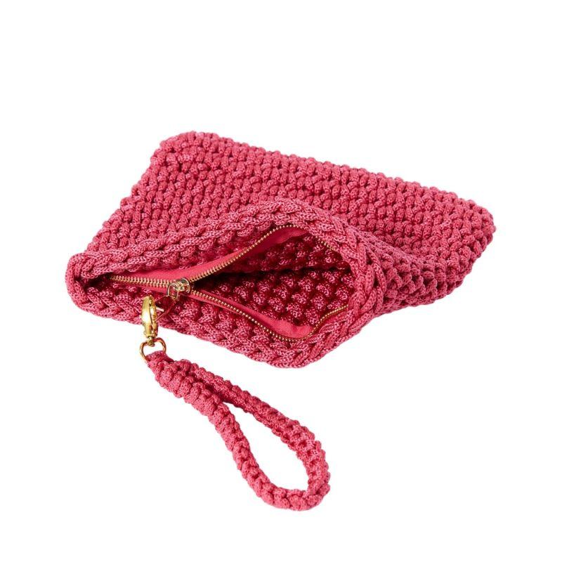 Crete Handmade Crochet Clutch in Pink image