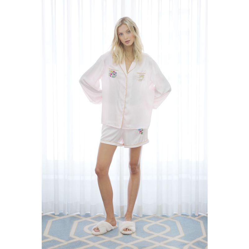 Seraphina Silk Pyjama Short In Pink image