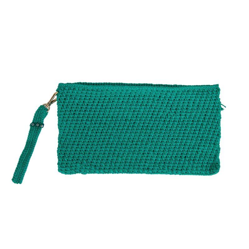 Corfu Crochet Clutch in Green image