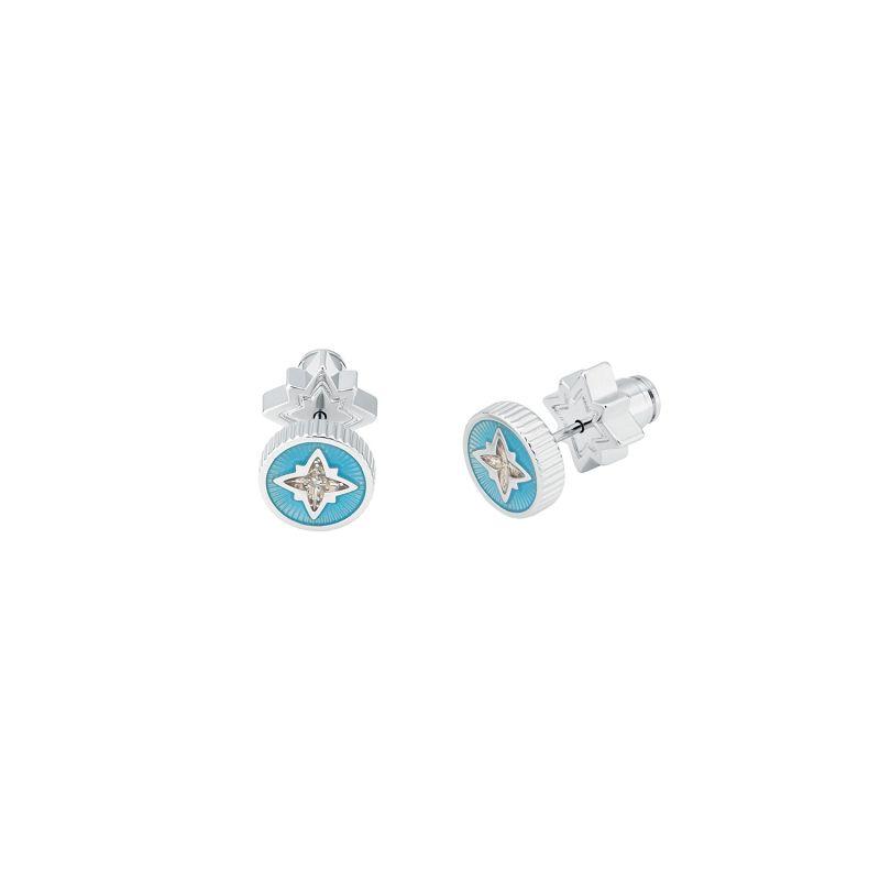 Taler Star Stud Earrings - Light Blue image