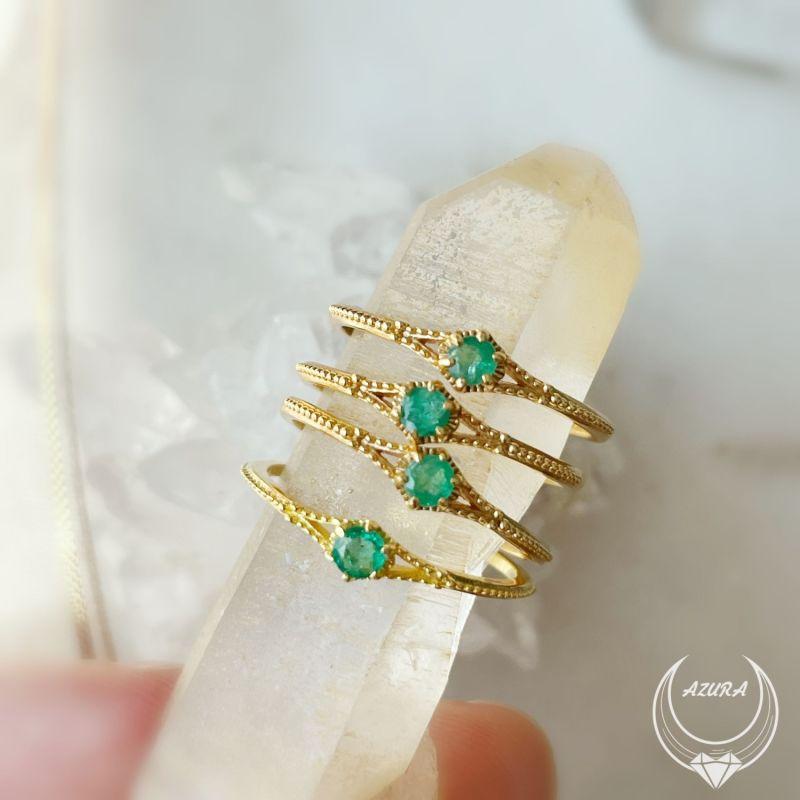 Angel's Glimpse Emerald Ring image