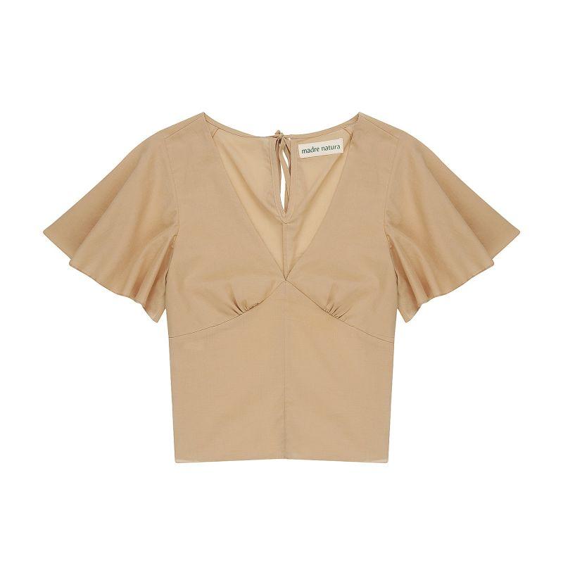 Daisy Cotton Sand Short Sleeve Bodice image