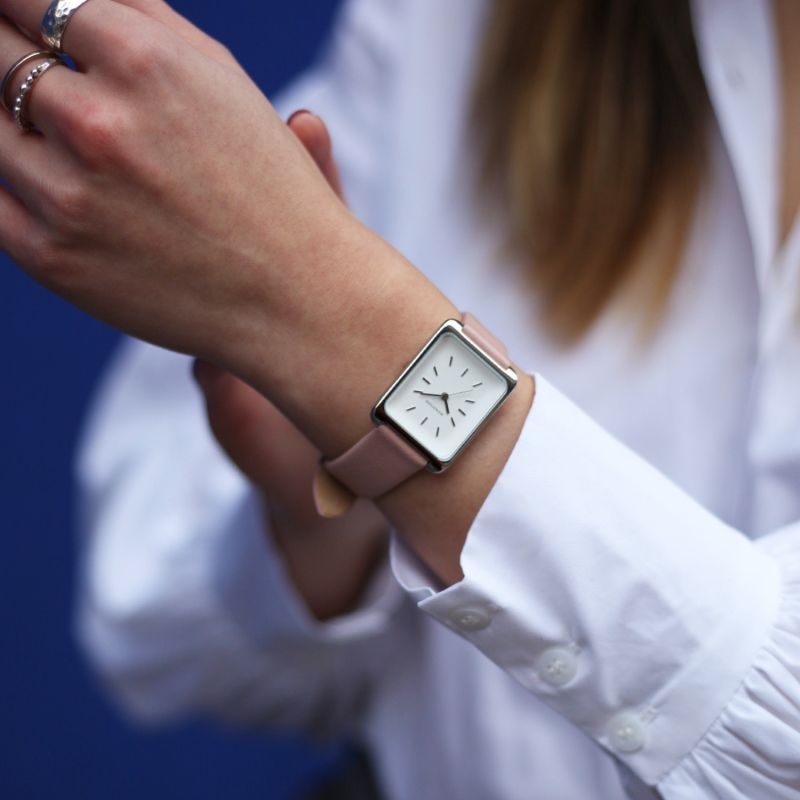 Monofore M01 Silver 35mm - Pink Leather image