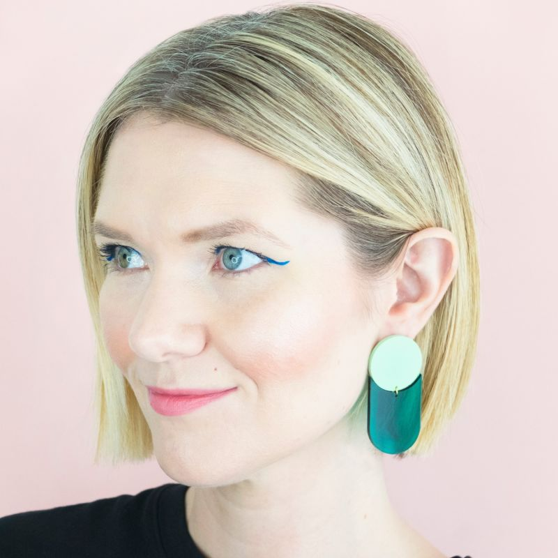 Perspective Emerald & Mint Earrings image