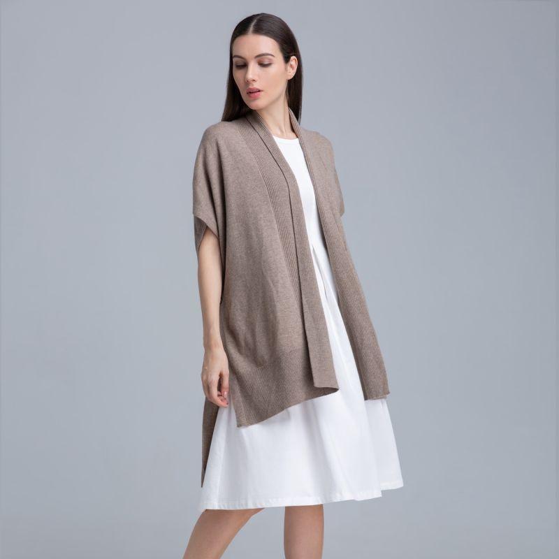 Valerie Cashmere Knit Poncho image
