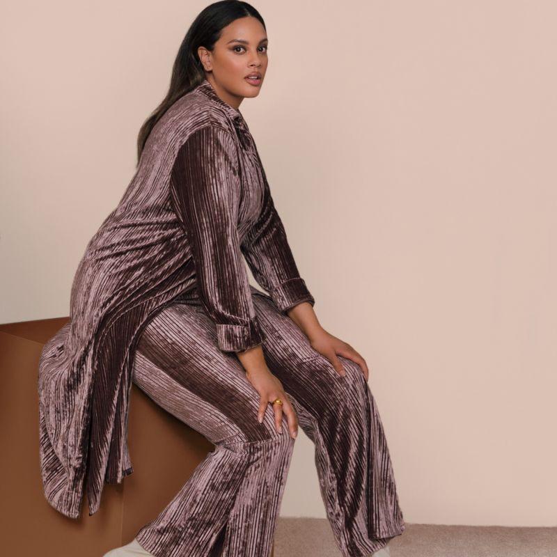 Velvet Long Blouse image