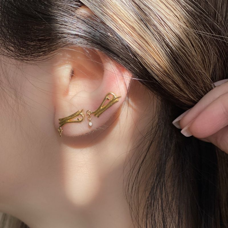 24Ct Gold Plated Vienna Ear Climber Earrings image