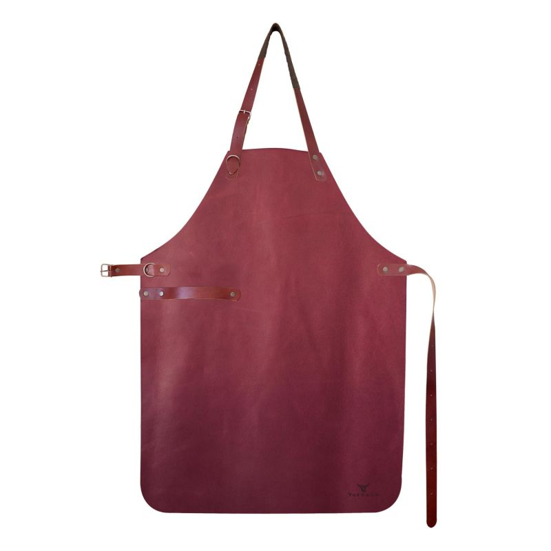 Natural Leather Apron - Limited Series - Garnet image