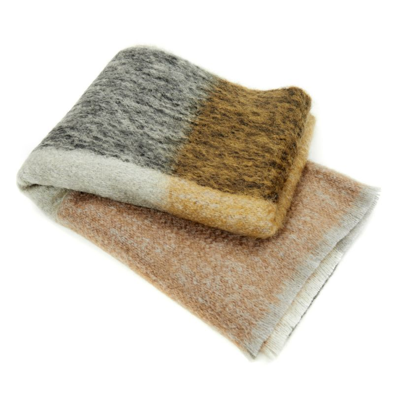 Large Mohair Abstract Throw In Honeycomb image