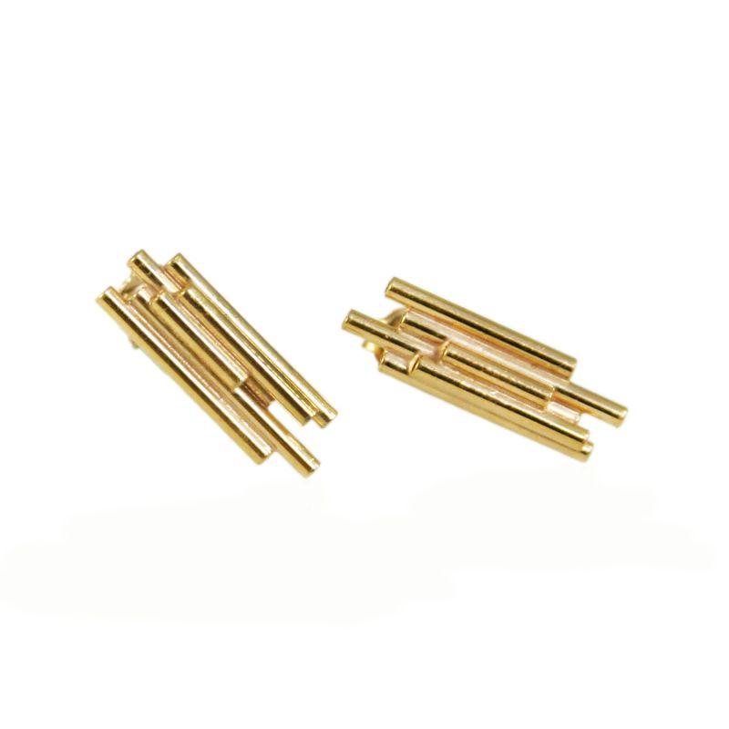 Giants Causeway Earrings Gold image