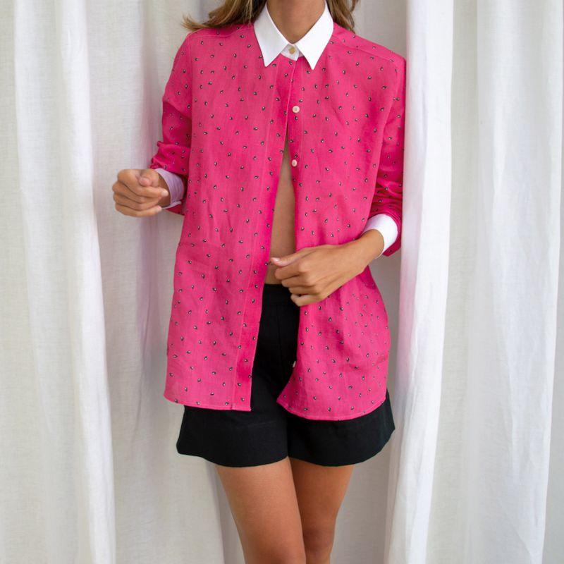 Watermelon Linen Shirt image