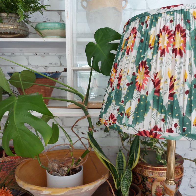 25cm Thrive Cotton Gathered Lampshade image