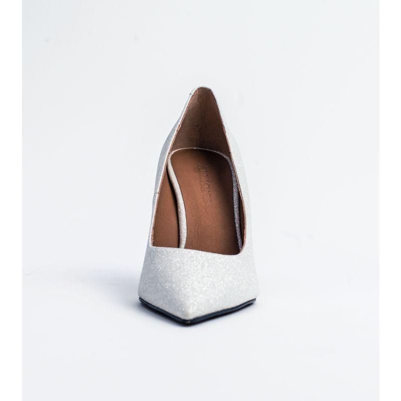 Scarlett Silver Sparkle Vegan Stiletto Party Shoe image