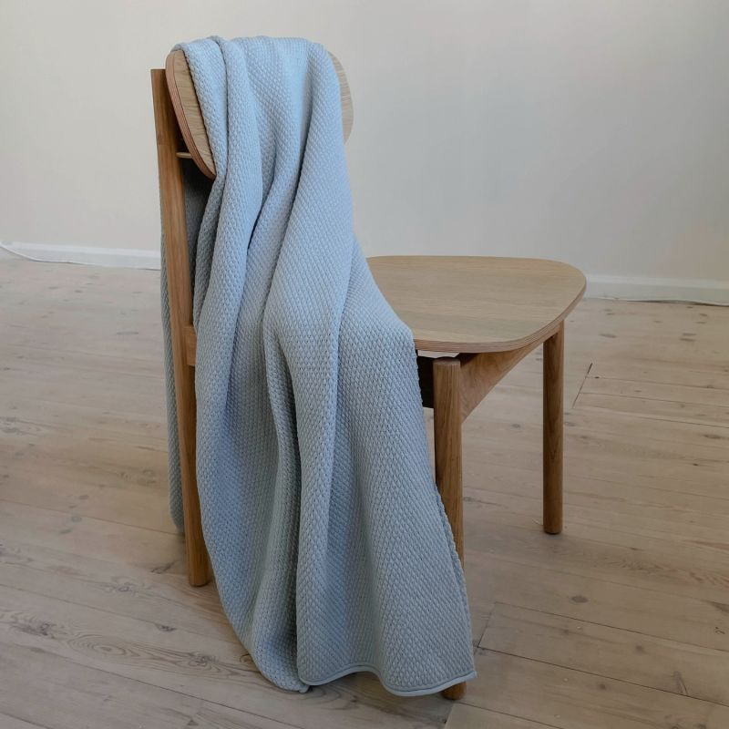 Riverside Wool Blanket - Light Blue - 130 x 190cm image