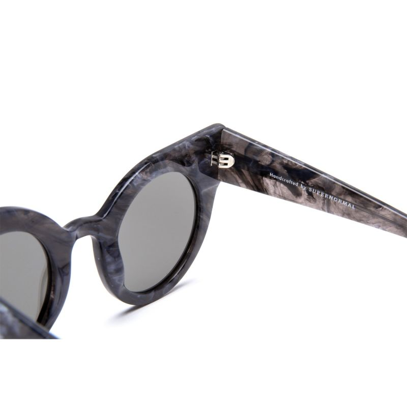 Curious Patterned Grey Frame + Mirrored Lenses image