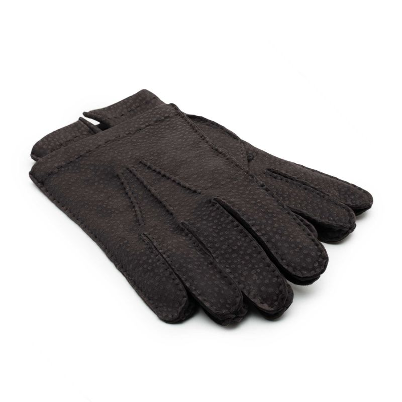 Cashmere lined Carpincho Leather Gloves - Brown Gianni image