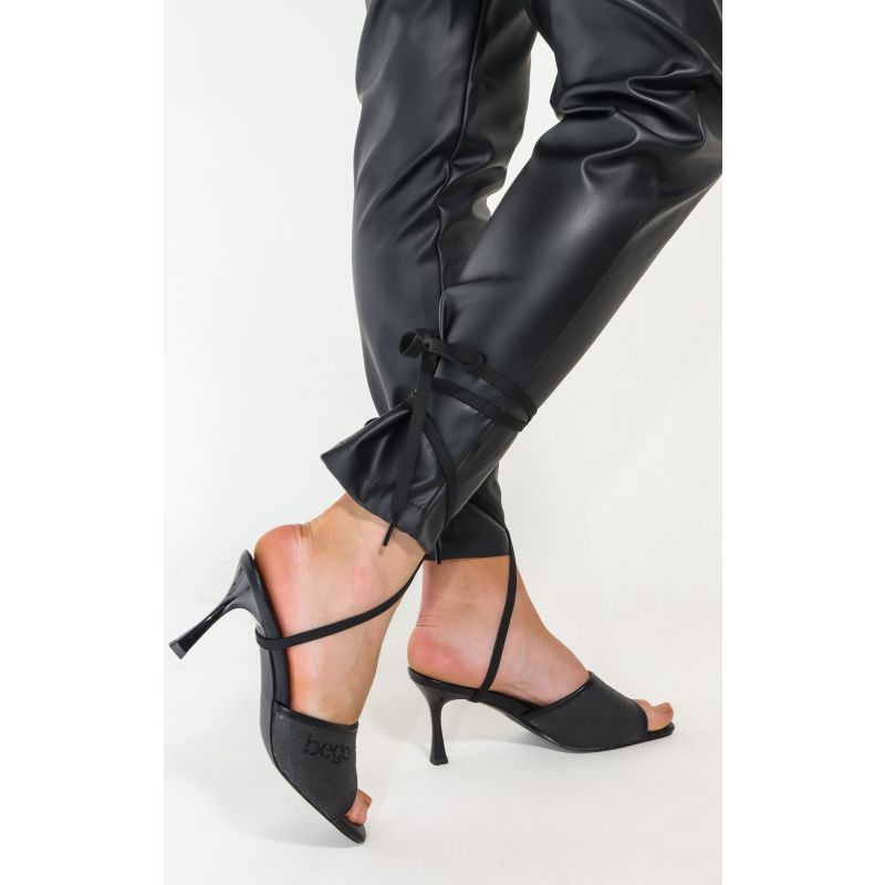 Lily Heels In Charcoal - Pineapple Leather image