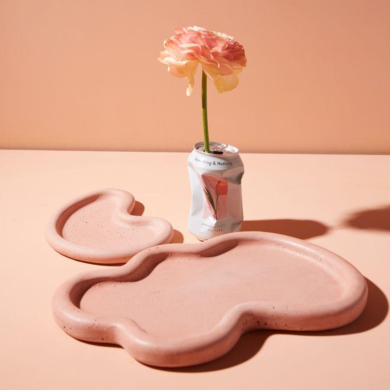Concrete Wobble Tray - Babe Pink image