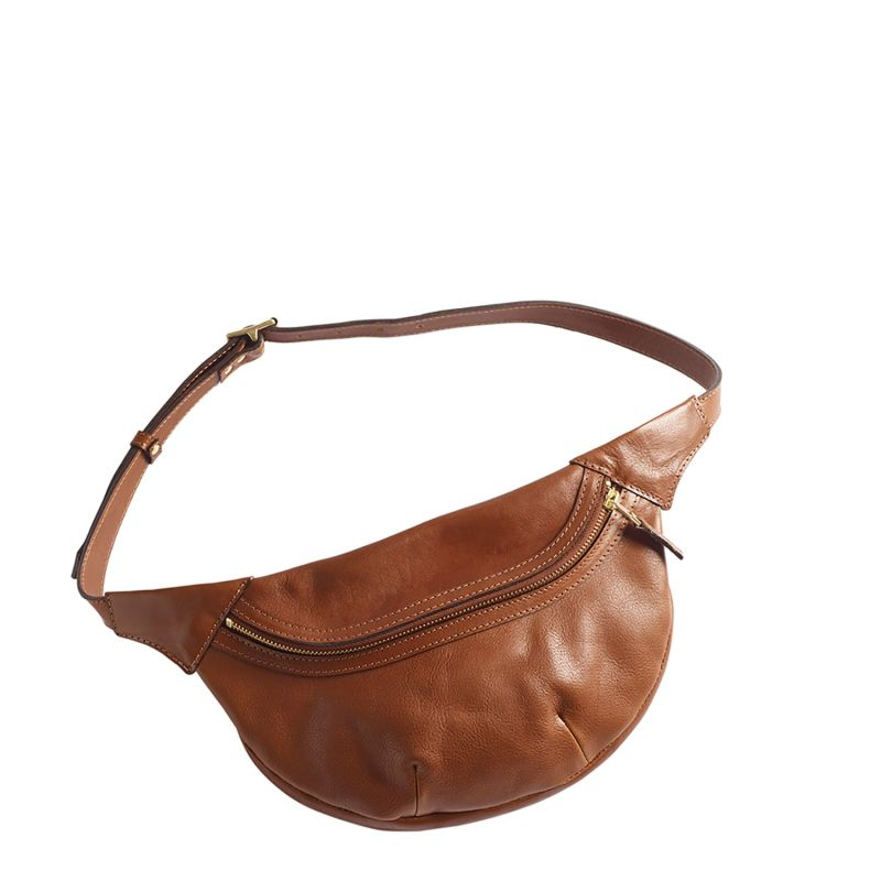 Loe Leather Fanny Pack In Tan image