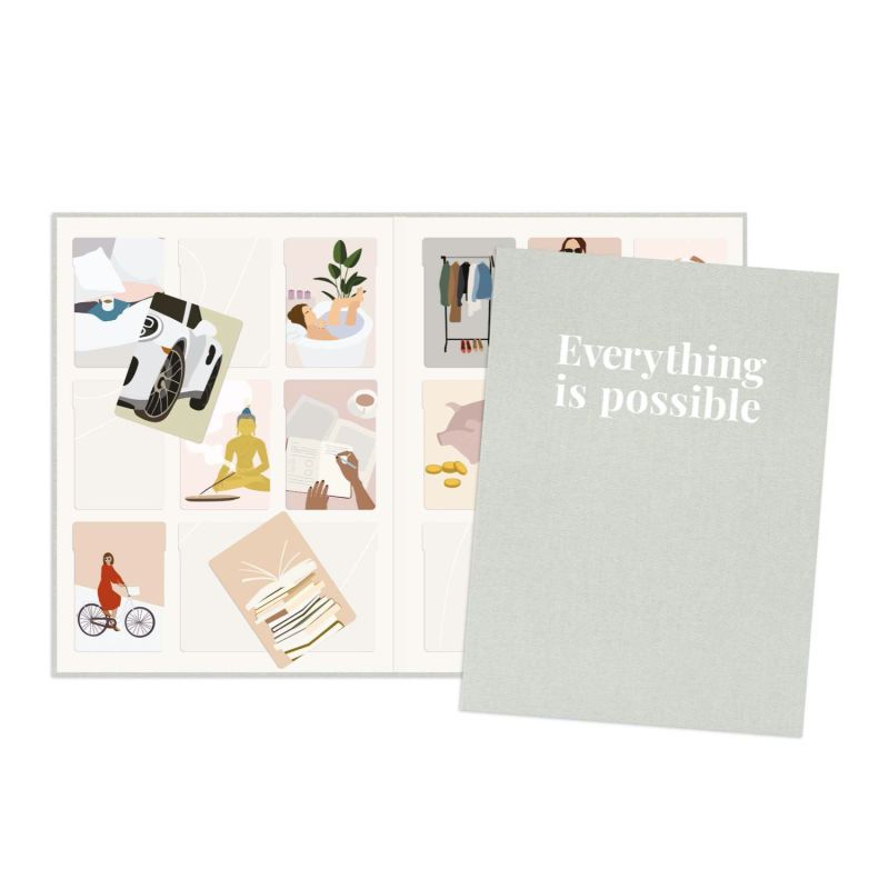 Vision Board Reimagined™ - Classic Grey Covers + 100 Illustrations image