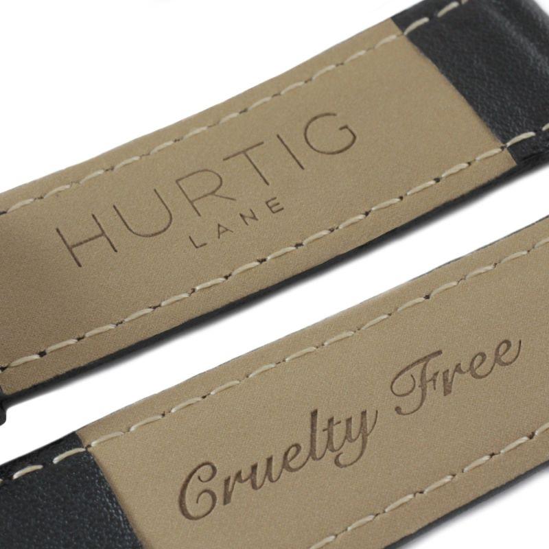 Moderna Vegan Leather Watch Silver, Black & Black image