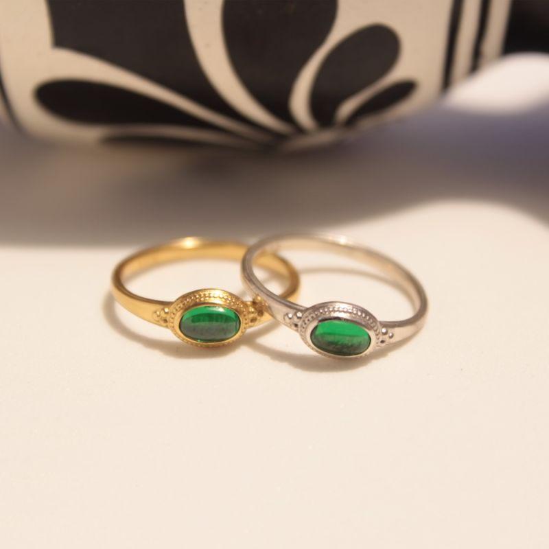 Roman Green Glass Ring image