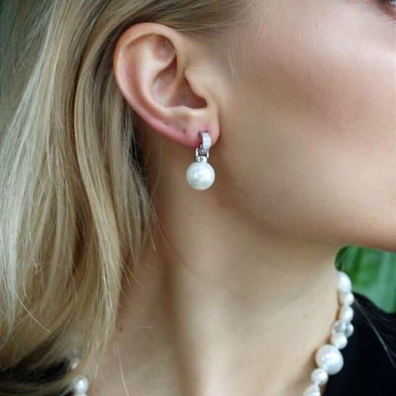 Lena Mother of Pearl Stud Earrings image