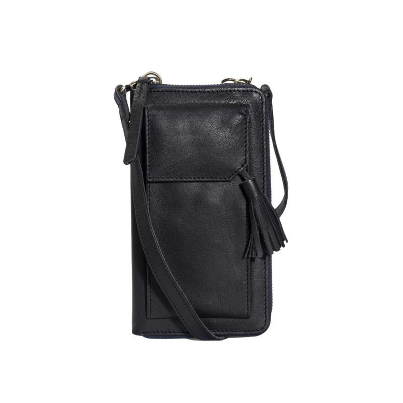 Three Fold Wallet Crossbody (Black) image