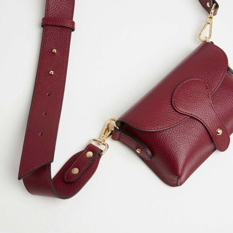 Luca Small Crossbody Bag Burgundy image