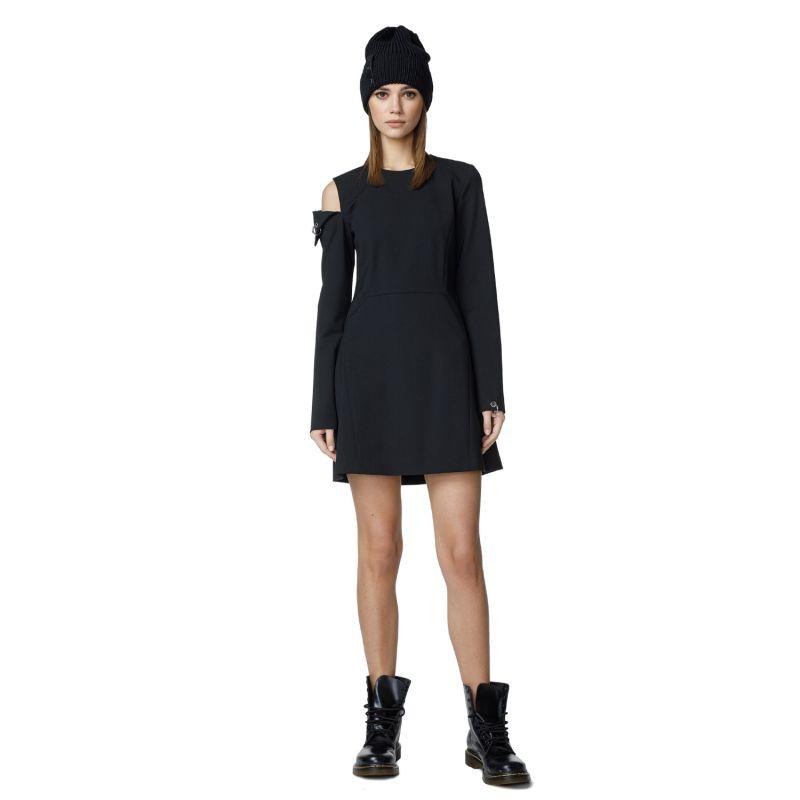 Long Sleeve Black Cocktail Dress image