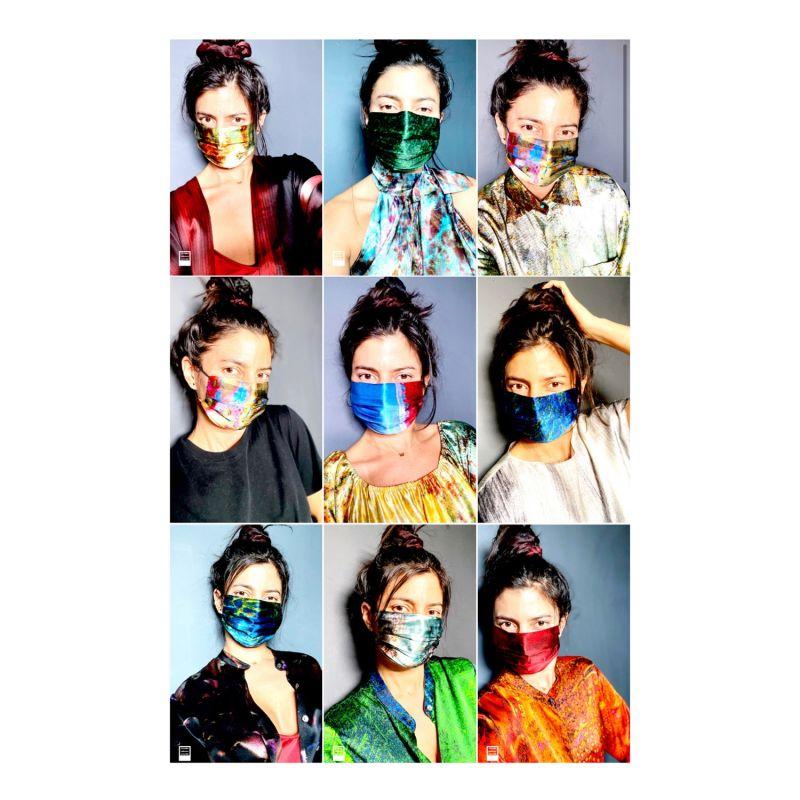 Sea Lines & Salton Sea Reversible Silk Face Mask image