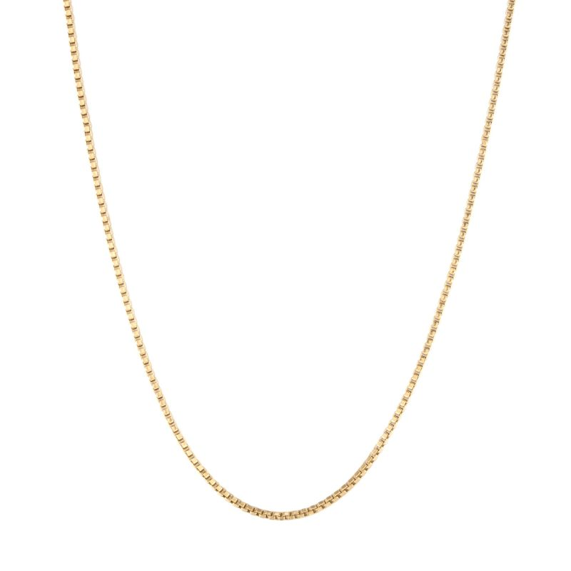 "22Ct Gold Vermeil Box Chain 18/20"" image"