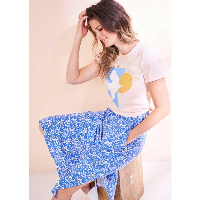 Ditsy Daisy Ecovero Midi Skirt image